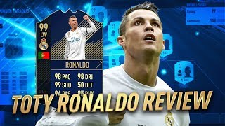 FIFA 18 TOTY RONALDO PLAYER REVIEW! THE BEST CARD IN FIFA ULTIMATE TEAM HISTORY
