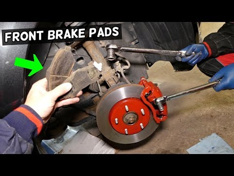 HOW TO REPLACE FRONT BRAKE PADS ON DODGE GRAND CARAVAN CHRYSLER TOWN AND COUNTRY