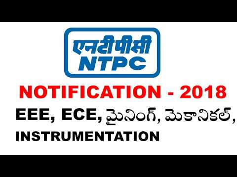 ntpc notification 2018 | NTPC Recruitment 2018 | Engineering Executive Trainee(EET) in NTPC