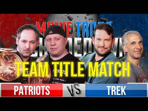 Movie Trivia Team Schmoedown - Patriots Vs. Trek - Title Match