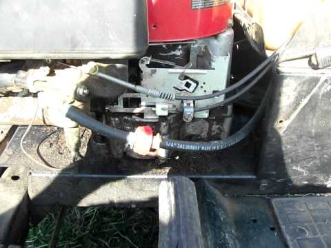 MTD 155 HP Lawn Tractor  Engine Gunning Issues  YouTube