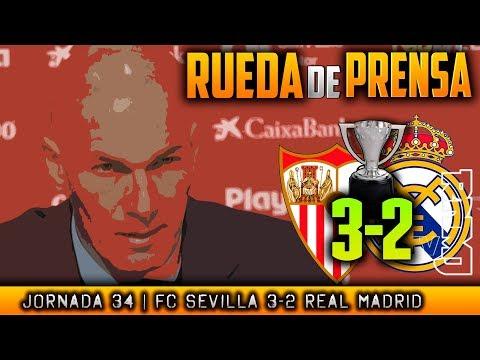 Rueda de prensa de Zidane (09/05/2018) | POST Sevilla 3-2 Real Madrid