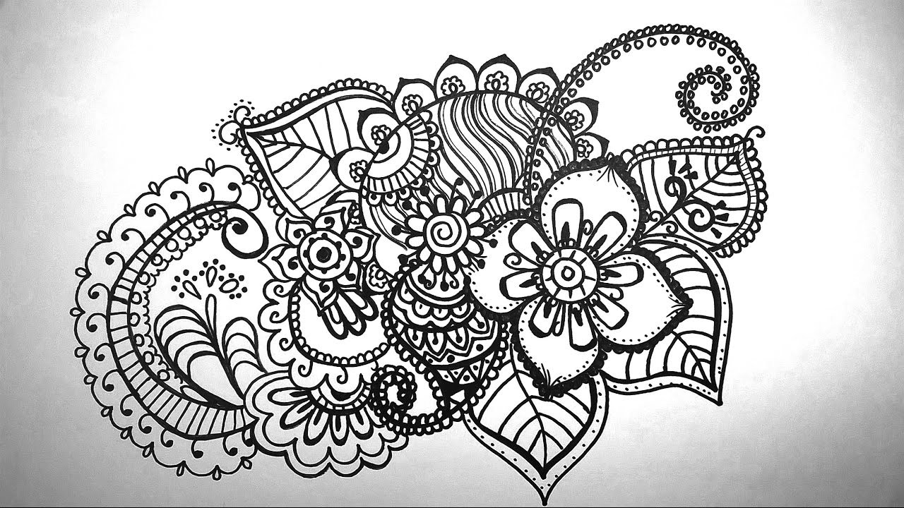 How to draw mandala - how to draw doodle - YouTube