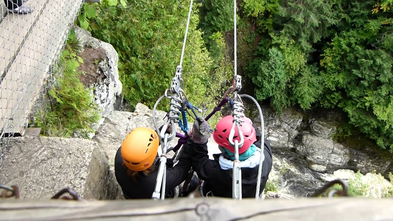 Zip Line In Saint Anne Canyon Quebec