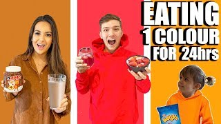 we ONLY ate ONE COLOUR Food for 24 HOURS!