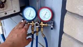 Проверка давления фреона R-22 в кондиционере
