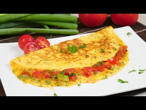 Omelette Rezept mit Käse & Tomaten | Leckere Frühstücksidee