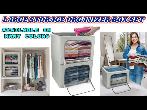 STORAGE ORGANIZER BOX SET - Store and protect clothing and household items with box container bins