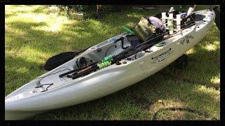 kayak fishing hobie outback walk around kayak rigging and setup