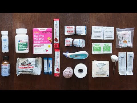 Minimalist Natural Travel Medicine & First Aid Kit | Full Ti