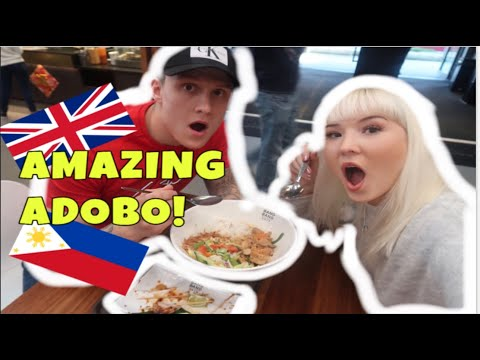 Filipino Adobo in London!! British couples first taste!!