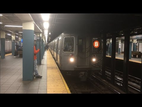 BMT Broadway Line: Downtown (B) (N) (Q) Exp and (R) (W) Lcl Trains @ Times Square-42nd Street