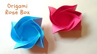 How To Make a Origami Rose Box | Valentines Day Crafts | InnoVatioNizer