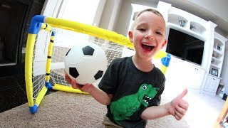 One of AndrewSchrock's most viewed videos: FATHER SON HOUSE SOCCER!