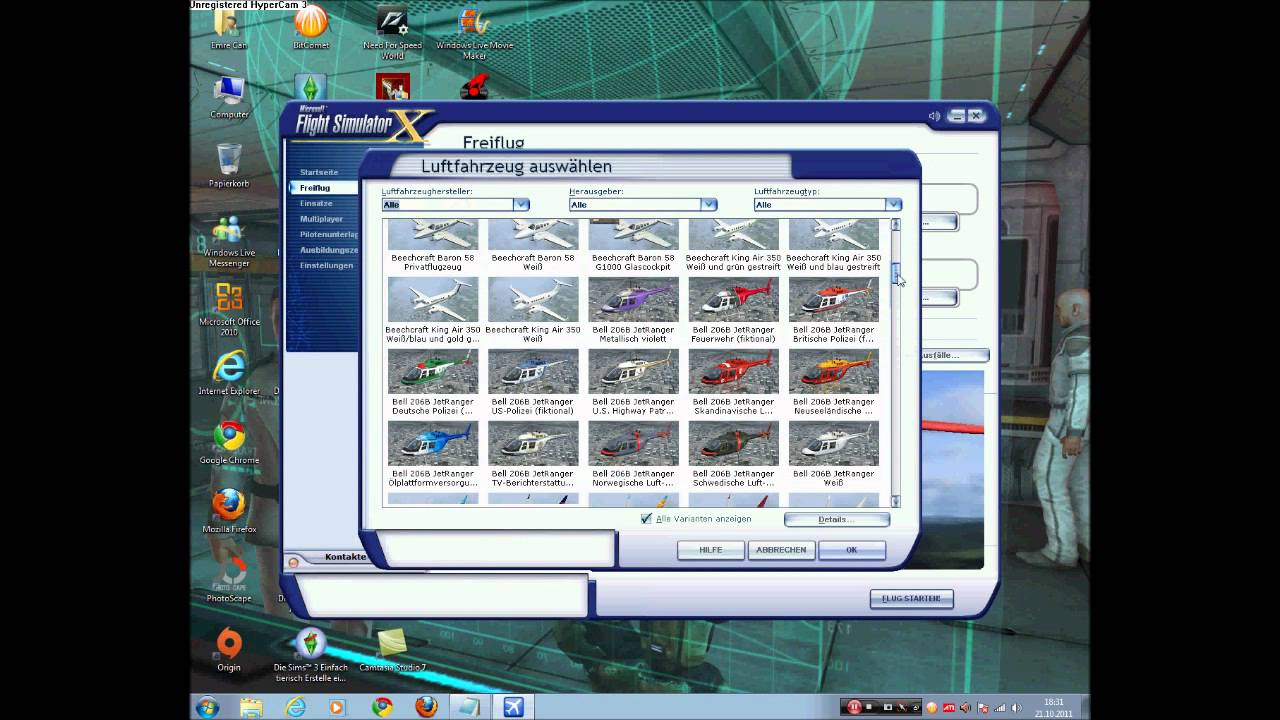 microsoft flight simulator x flugzeuge