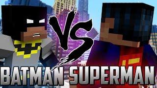 Minecraft: Batman vs Superman Robin!