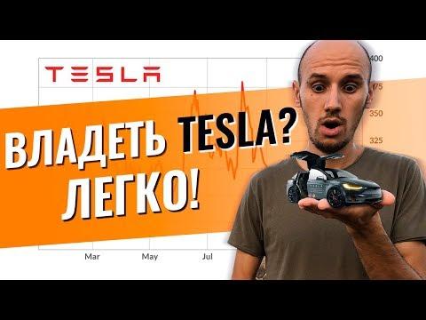Как Купить Акции Крупных Компаний? Инвестиции в акции Tesla, акции Газпрома