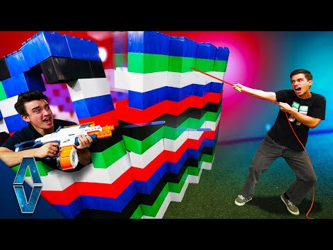 NERF Defend Your LEGO Base Challenge!