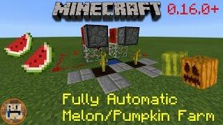 Minecraft 0.16.0+ : Fully Automatic Melon/Pumpkin Farm