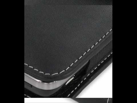 PDair Leather Case for Garmin-Asus nüvifone M10 - Vertical Pouch Type (Black)