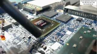 Naprawa laptopa DELL LATITUDE D630C - wymiana karty graficznej BGA. NIE REBALLING BGA!