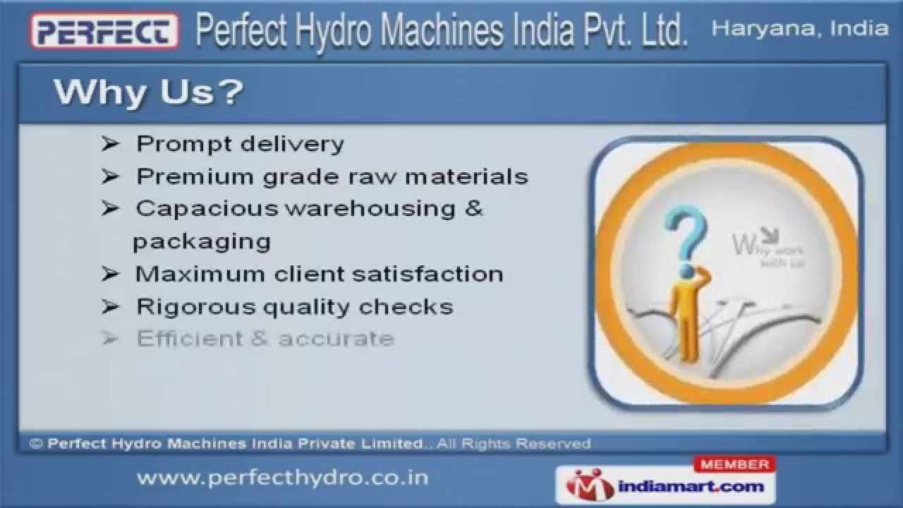 Industrial Hydraulic Machines & Accessories by Perfect Hydro ...