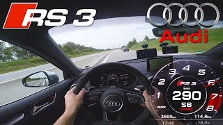 Cruising on Autobahn with Audi RS3 Sedan ✔
