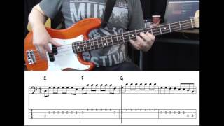 Rancid - Daly City Train (Bass cover with tabs on screen)