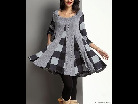 DIY Easy Making of How to Cut and Sew Godet Tunic Top | Triangles PANELS  attaching on KURTI