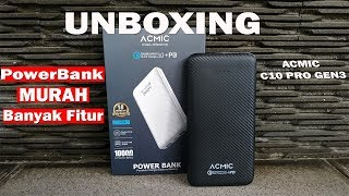 Power Bank ACMIC C10PRO 10000mAh Quick Charge 3 0  PD Power Delivery