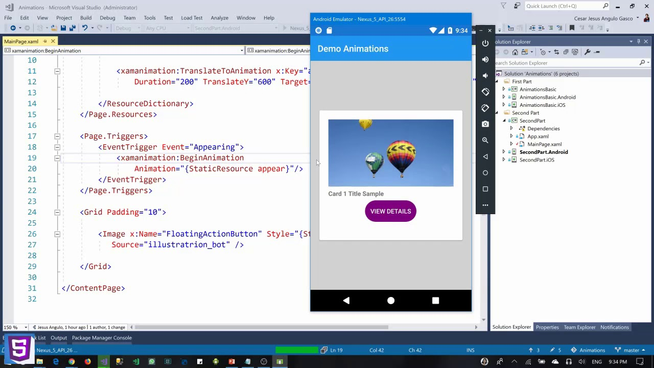 Animaciones en Xamarin Forms con Xamanimation