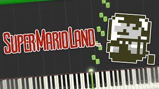 Super Mario Land - Short Themes & Sound Effects Piano Tutorial Synthesia