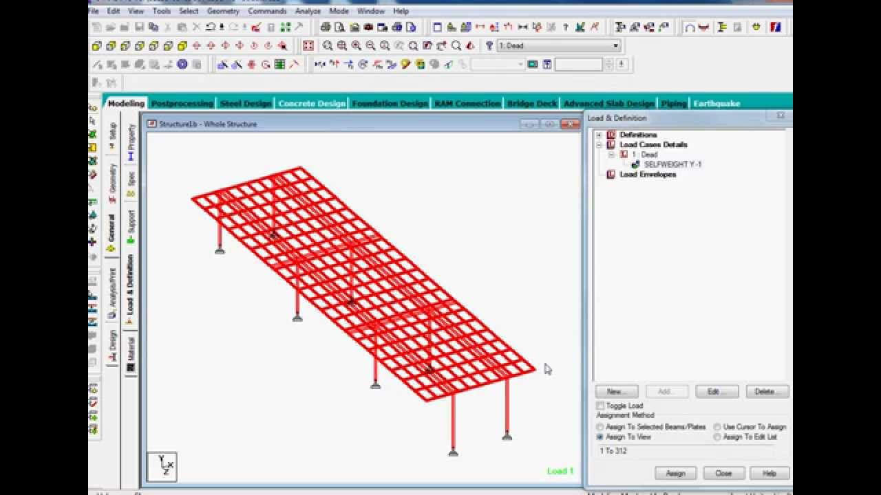 Bridge design in staad pro part1 YouTube