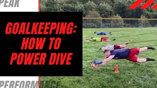 Goalkeeper Training: Learning how to Power Dive.