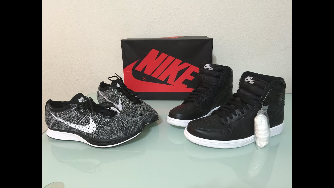 Nike factory outlet pickups Jordan retro 1 cyber Monday and Oreo flyknit  racers review - YouTube