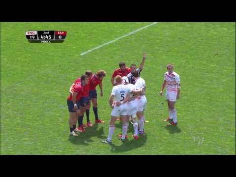 (HD) Paris 7s | England v Spain | Pool A | Full Match Highlights | Rugby Sevens
