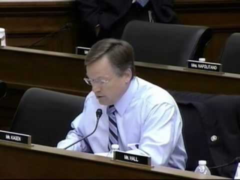 Congressman Kagen Questions BP Officials at Congressional Hearing