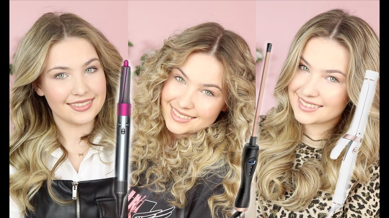 Welp 5 manieren om je haar te krullen met één krultang, grote krullen FI-01
