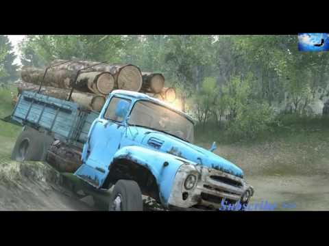 รถบรรทุก 6 ล้อเก่า บรรทุกไม้ซุงออกจากป่า Old truck 6 wheels (Realistic)