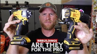 Dewalt Atomic Drill/driver and Impact Set, Are they for the PRO: Toolsday