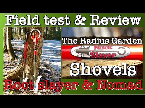 Radius Garden Root Slayer shovel field test & review digging Nomad gardening metal detecting tools