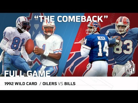 "1992 AFC Wild Card: Houston Oilers vs. Buffalo Bills | ""The Comeback"" 