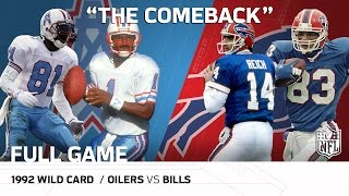 1992 AFC Wild Card: Houston Oilers vs. <b>Buffalo Bills</b>