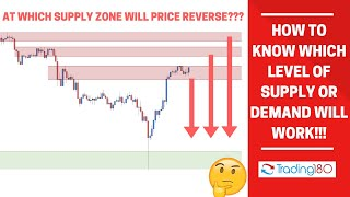 How To Know Which Level Of Supply Or Demand Will Work!!!