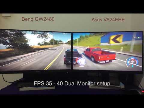 Asus VA24EHE vs BenQ GW2480 Gaming Test - NFS Heat - YouTube