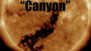 "Dark ""Canyon"" on the Sun takes Aim at Earth! 