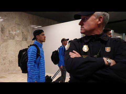 Boca Juniors chega a Madrid sob forte dispositivo policial