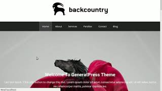 My first WordPress website design