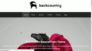 My first WordPress website design