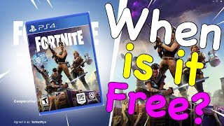 Save The World Won't be Free in 2018! - Fortnite Free Release Date